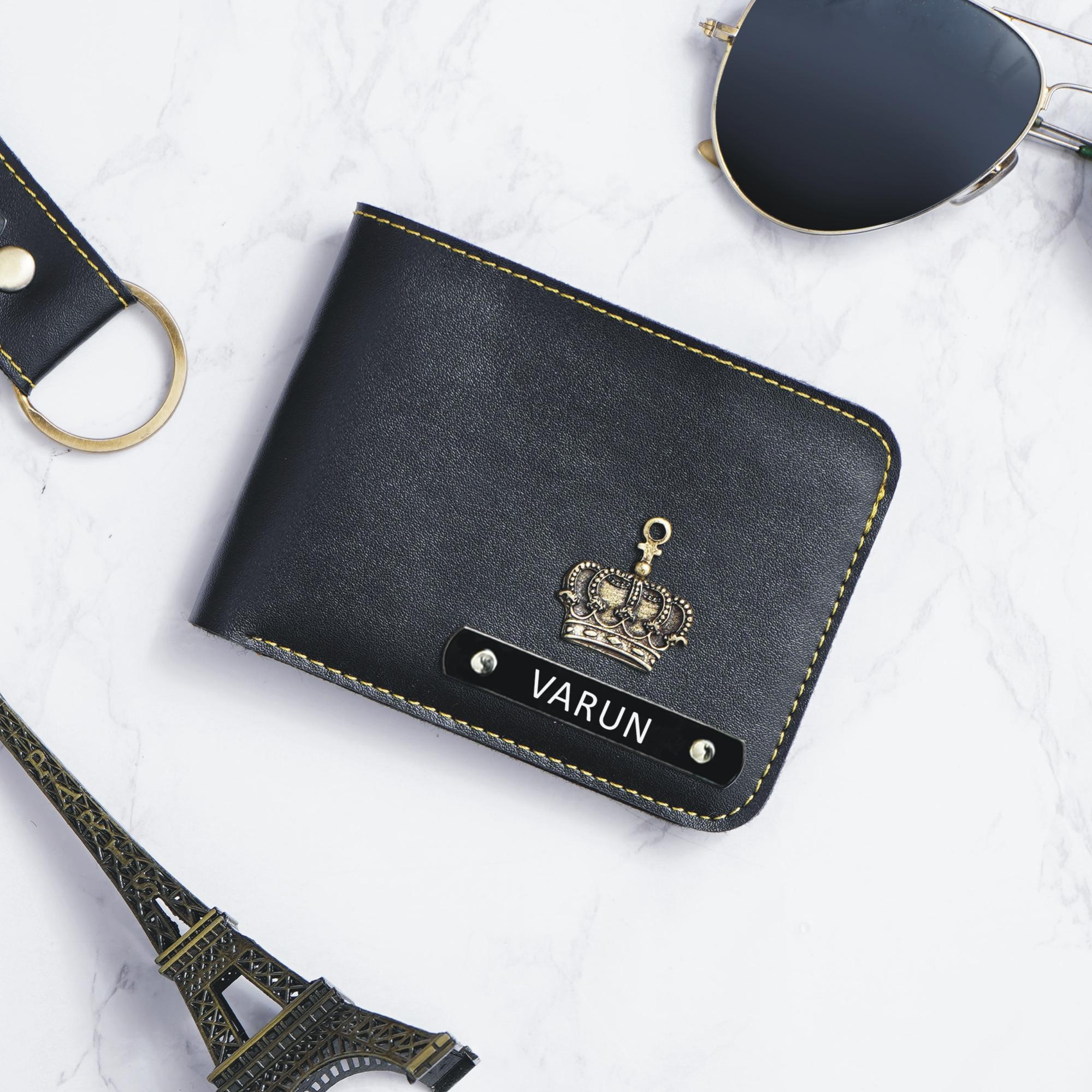 customised wallet for men black