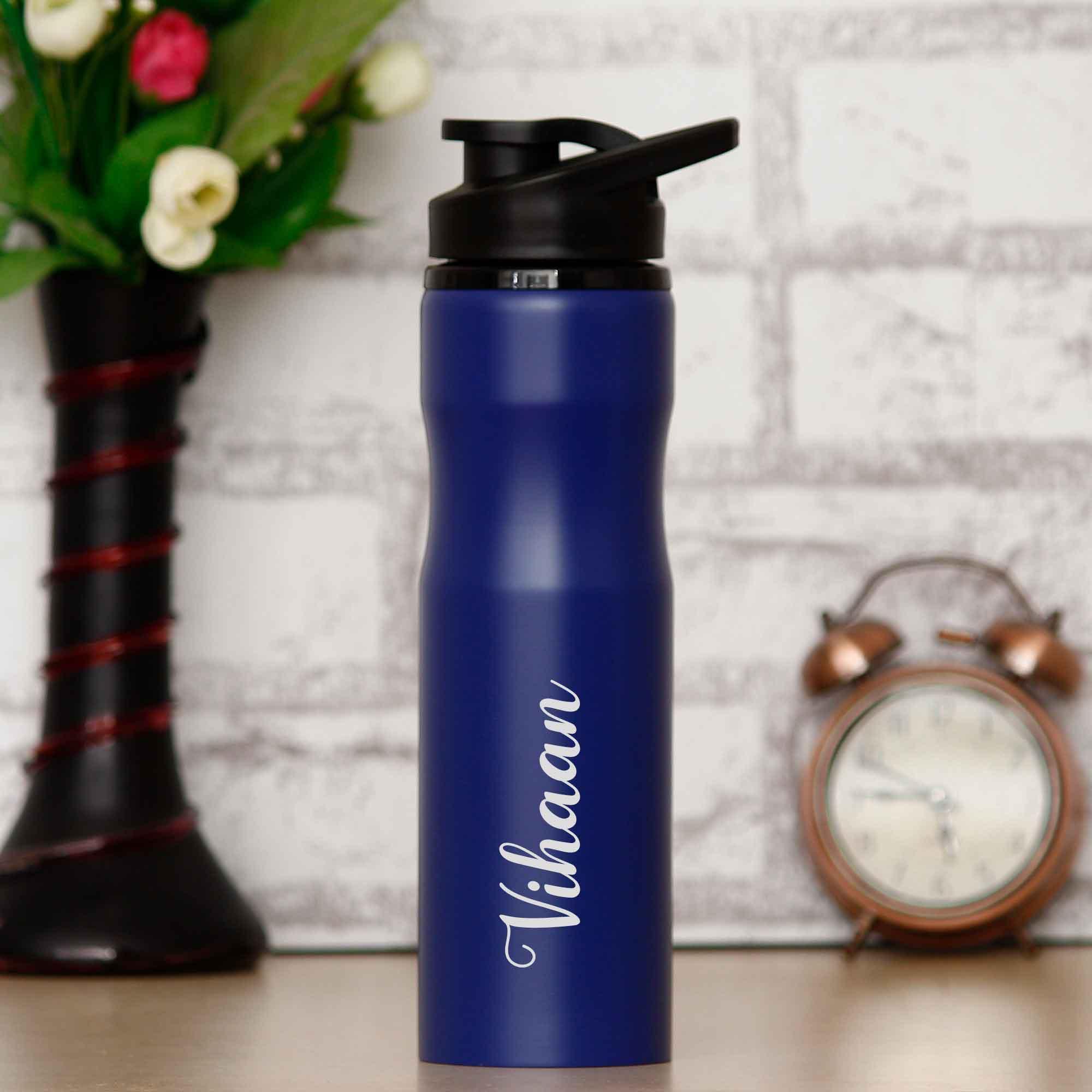 customised bottle blue 750 ml